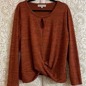 Dark Orange Sweater Size XL